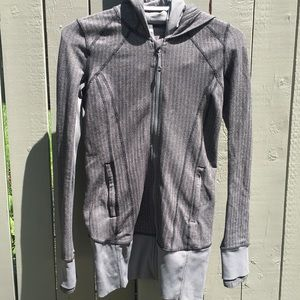 Lululemon Hooded Gray Zip Up Sweater Size 4